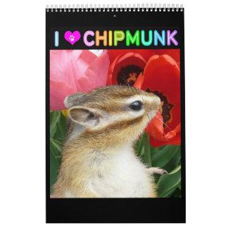 Foto del Chipmunk (4) Calendarios De Pared