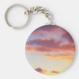 Foto del cielo de la puesta del sol llavero personalizado