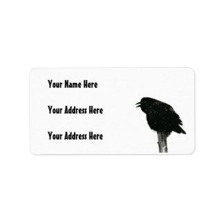 Foto del cuervo/del cuervo etiquetas de dirección