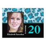 Foto del cumpleaños del estampado leopardo de las invitación 12,7 x 17,8 cm