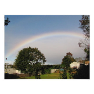 Foto del del arco iris de la mañana