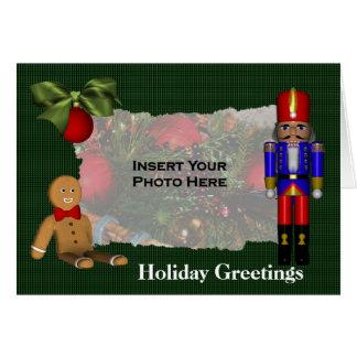 Foto del día de fiesta del navidad de la galleta tarjeta de felicitación