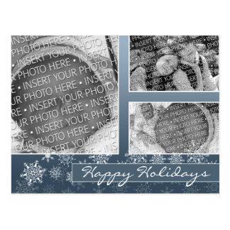 Foto del día de fiesta del navidad del copo de tarjeta postal
