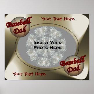 Foto del diseño del papá del béisbol impresiones