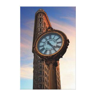 Foto del edificio de Flatiron en NYC Impresión En Lona Estirada