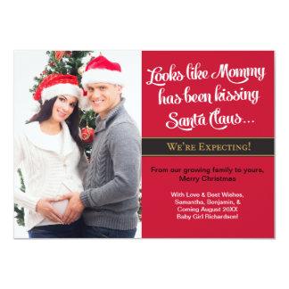 "Foto del embarazo de la tarjeta de Navidad A6 - Invitación 4.5"" X 6.25"""