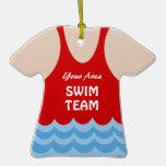Foto del equipo de natación adorno de navidad