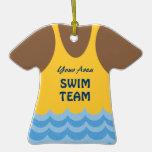 Foto del equipo de natación del cambio del color adorno para reyes