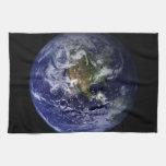 Foto del espacio de la tierra del planeta toallas de mano