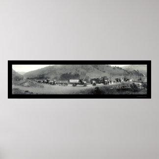 Foto del este 1920 de la bahía del viaje del camió póster