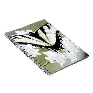 Foto del este de la mariposa de Swallowtail del ti Libreta Espiral