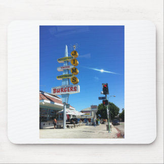 foto del este de Los Ángeles de las hamburguesas d Alfombrillas De Ratones