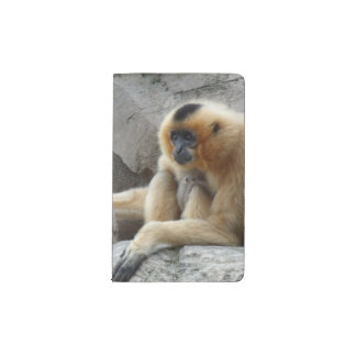 Foto del Gibbon anaranjado y negro que se relaja Funda Para Libreta Y Libreta Pequeña Moleskine