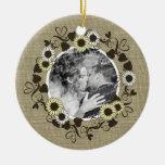 Foto del girasol del arbolado BOHO Ornamento Para Arbol De Navidad