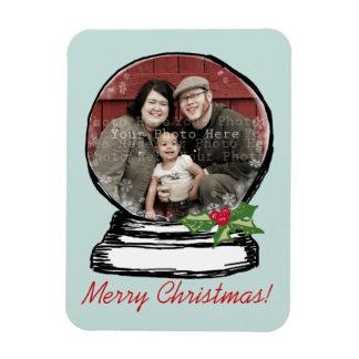 Foto del globo de la nieve del navidad imanes de vinilo