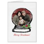 Foto del globo de la nieve del navidad felicitación