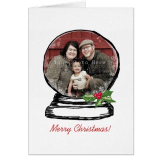 Foto del globo de la nieve del navidad tarjeta pequeña