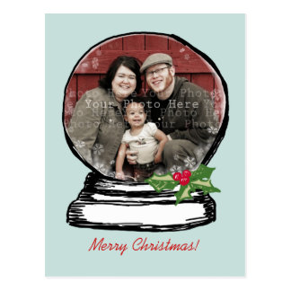 Foto del globo de la nieve del navidad tarjetas postales