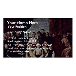 Foto del grupo de los monjes, de los canones y de tarjetas de visita