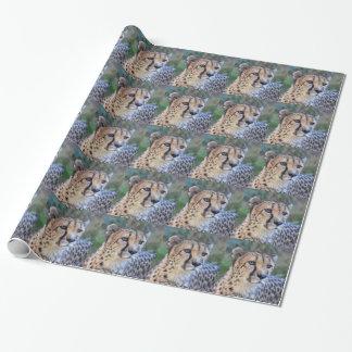 Foto del guepardo papel de regalo
