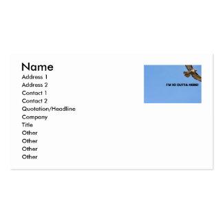 Foto del halcón tarjetas de visita