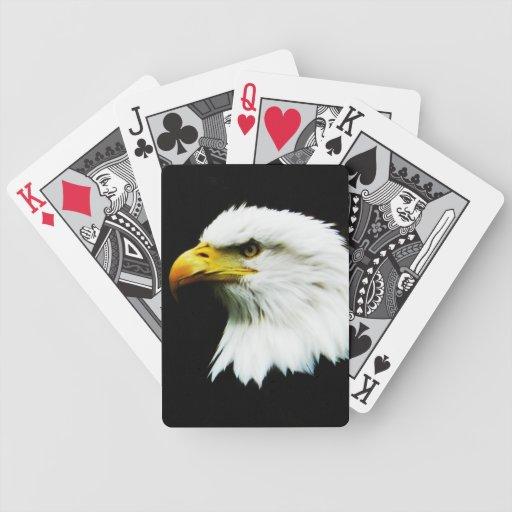 Foto del Headshot de Eagle calvo Baraja De Cartas