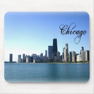 Foto del horizonte de Chicago a través del lago Mi Mouse Pads