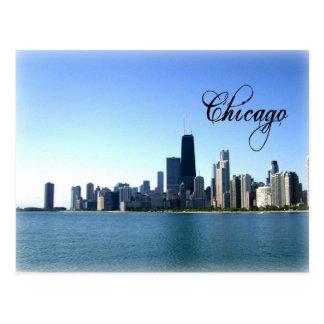 Foto del horizonte de Chicago a través del lago Mi Postal