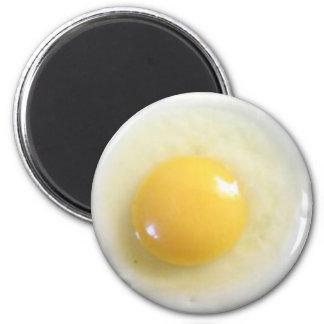 foto del huevo frito imán redondo 5 cm