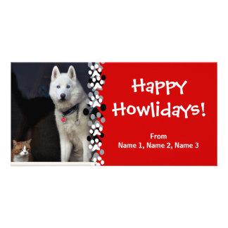 Foto del husky siberiano tarjeta fotografica personalizada