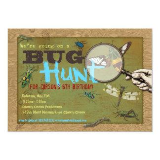 """Foto del insecto de la caza del insecto en la invitación 5"""" x 7"""""""