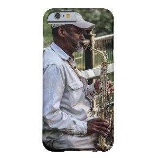Foto del jugador de saxofón de la calle de New Funda De iPhone 6 Barely There