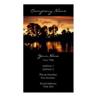 Foto del lago sunset tarjetas de visita