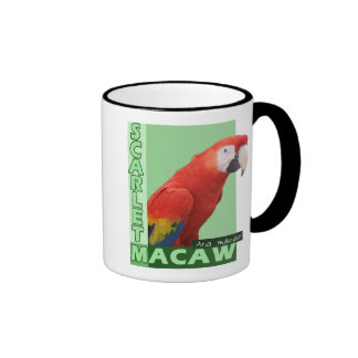 Foto del Macaw del escarlata Taza