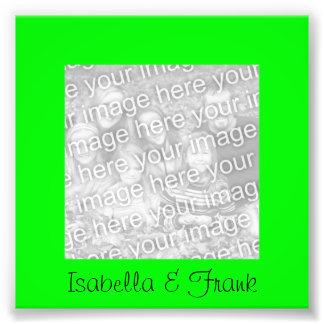 Foto del marco de la verde lima cojinete