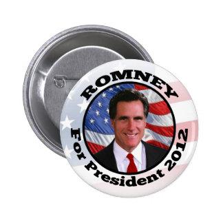Foto del marco del círculo de Mitt Romney Pin Redondo De 2 Pulgadas