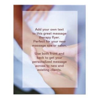 "Foto del masaje sueco - brazo y mano folleto 4.5"" x 5.6"""