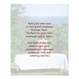 """Foto del masaje sueco folleto 4.5"""" x 5.6"""""""