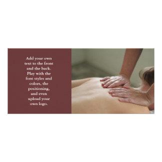 Foto del masaje sueco - trasera tarjetas publicitarias personalizadas