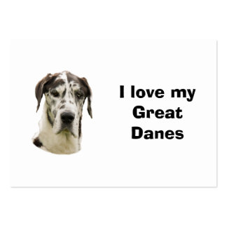 Foto del mascota de Halequin great dane Tarjetas De Visita Grandes