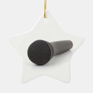 Foto del micrófono ornamento para arbol de navidad