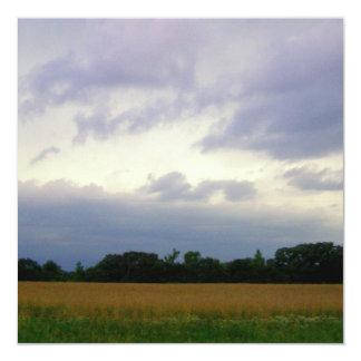 Foto del Mid West hermosa de los cielos para la Invitación 13,3 Cm X 13,3cm