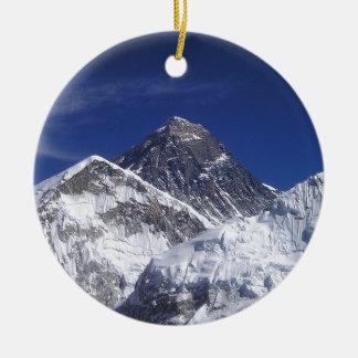 Foto del monte Everest Adorno Navideño Redondo De Cerámica