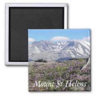 Foto del Monte Saint Helens Imán Cuadrado
