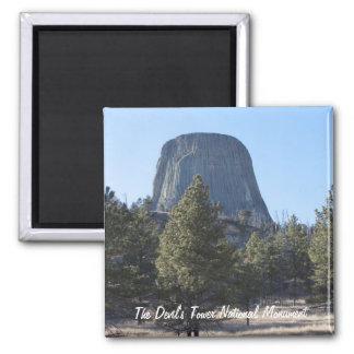 Foto del monumento nacional de la torre del diablo imán cuadrado