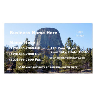 Foto del monumento nacional de la torre del diablo tarjeta de negocio