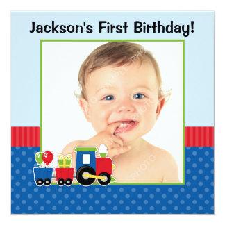 Foto del muchacho del cumpleaños del lunar del comunicados personalizados