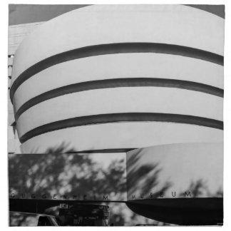 Foto del museo de Guggenheim en New York City Servilletas