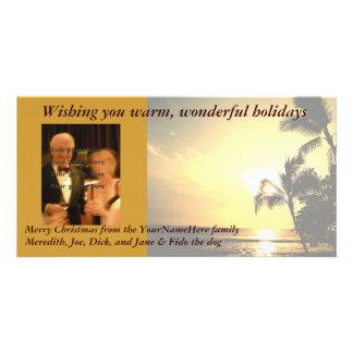 Foto del navidad de la palmera tarjeta personal