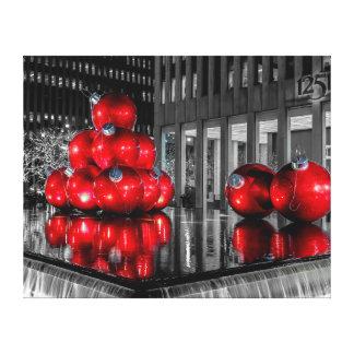 Foto del navidad de New York City Lona Envuelta Para Galerías